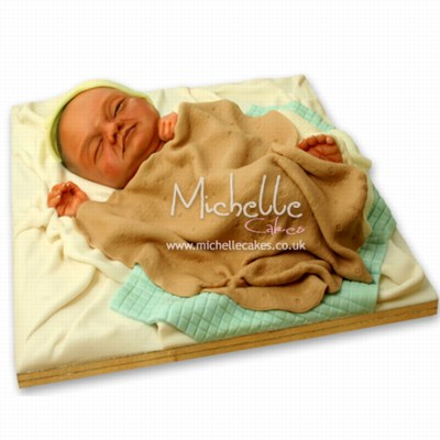 Michelle_new_baby_cake