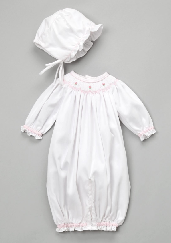 Petit Ami White Smocked Gown  ZULILLY